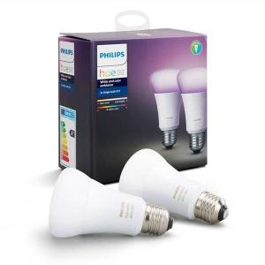 Philips Hue White and Color Ambiance 806lm 6500K E27 10W 2-pack