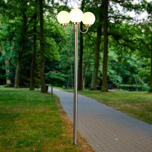 Lindby Lygtepæl Laci af rustfrit stål, 3 lyskilder