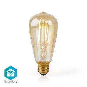 Nedis, Wi-Fi Smart LED-glødepære, E27, ST64, 5W, 500 lm