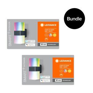 Ledvance 2xSmart+ Outdoor Cube Wi-Fi UpDown RGBW Wall Light Bundle