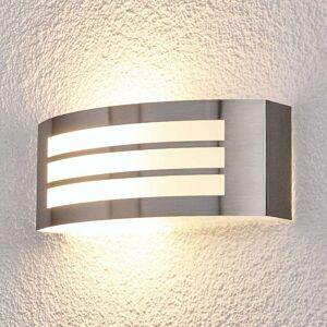 Lampenwelt.com Stilig utevegglampe Raja med stripelook