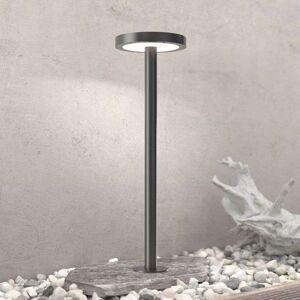 Lampenwelt.com LED-solcelleveilampe Linja, rund, mørkegrå