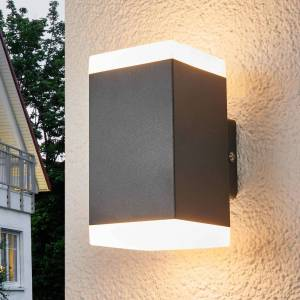 Lampenwelt.com Hedda - firkantet LED-utevegglampe