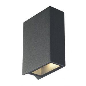 SLV Quad 2 Vegg lys, Firkant, Antrasitt, LED, 2x3W, 3000K, opp-ned, IP44