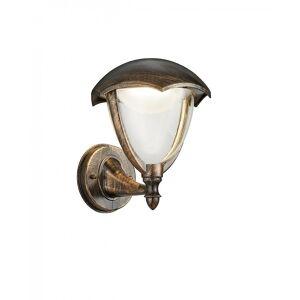 Trio Lighting Gracht Classic Antique Rust Diecast Aluminium Wall Lamp