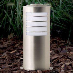 Brilliant Todd - en oval sockellampa av rostfritt stål
