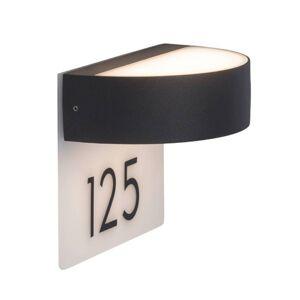Elegant LED-husnummerlampa Monido