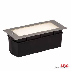 AEG LED-vägginbyggnadslampa Wall med satinerat glas