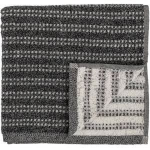 Bloomingville Cozy, Håndklæde, Bomuld by Bloomingville (B: 70 cm. L: 140 cm., Sort)