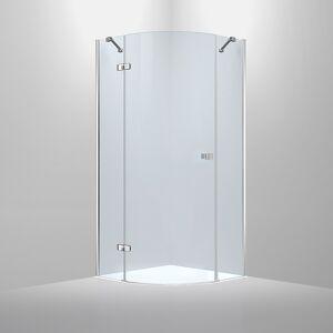 Bathlife Diskret Dusjhjørne 80x80 Cm, Krom Profil/klarglass