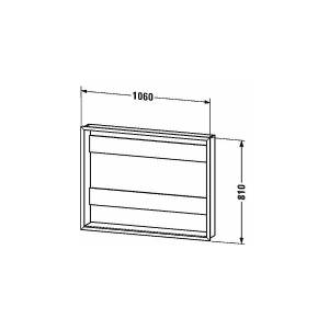 Duravit Innbyggingssett til speilskap For 1010 mm speilskap