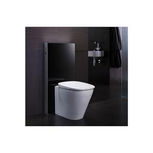 Geberit Monolith Plus Sisterne 101 cm Gulvstående toalett m/lys Hvitt glass