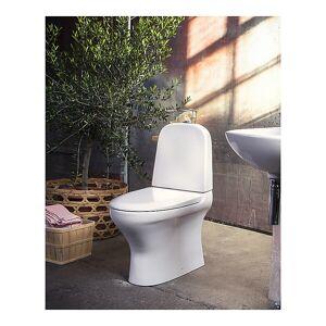 Gustavsberg Estetic 8300 Gulvst. toalett Med myktlukkende sete og lokk, Hvit