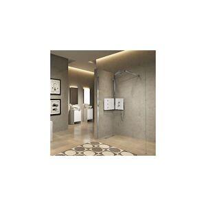 Novellini Sint Dusjsøyle m/panel Med kroppsdyser, Panel i Hvitt Glass