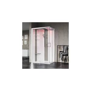 Novellini Skill A Steamkabinett 120x100 cm, høyre, Hvit/Dus Grå
