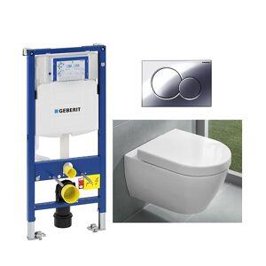 Villeroy & Boch V&B Subway 2.0 Compact Toalettpakke Inkl. sete/lokk, sisterne og trykkplate.