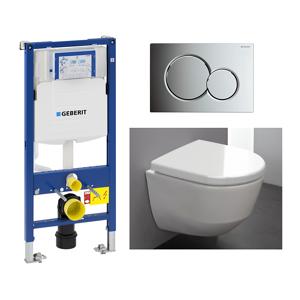 Laufen Pro Toalettpakke M/lcc Inkl. Sete/lokk, Sisterne Og Trykkplate