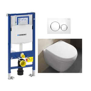 Villeroy & Boch V&B Subway 2.0 DF Compact Toalettpk. Inkl. sete/lokk, sisterne og trykkplate.