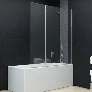 vidaXL Leddet dusjdør med 3 paneler ESG 130x138 cm