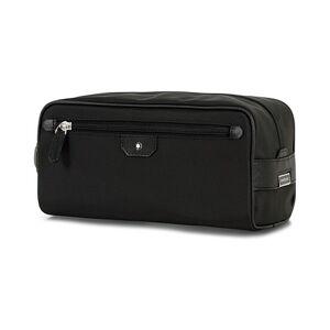 Montblanc Sartorial Jet Leather Wash Bag Black