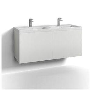 Svedbergs Tvättställsskåp Svedbergs Forma 120 Dubbel Två Lådor