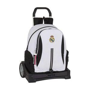 Real Madrid - Trolley Rygsæk Til Børn - 2 Rum - Hvid