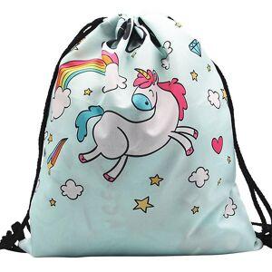 eStore Classic gym bag med Unicorn motiv multifärg