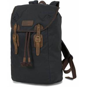 Barbour Lifestyle Wax Leather Backpack Navy