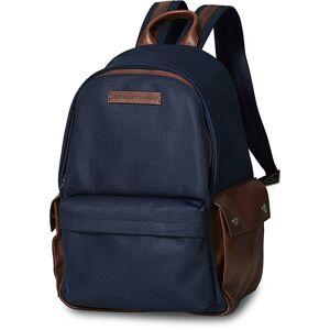 Brunello Cucinelli Leisure Backpack Navy/Brown Calf