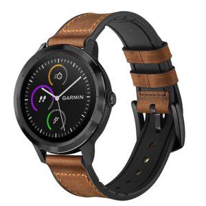 MOBILCOVERS.DK Smartwatch Læder Belagt Silikone Rem (20mm) - Brun