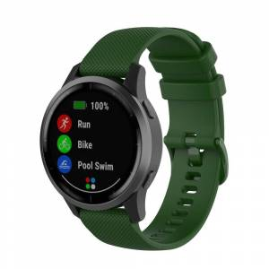 MOBILCOVERS.DK Smartwatch Silikone Rem (22mm) Riflet - Grøn