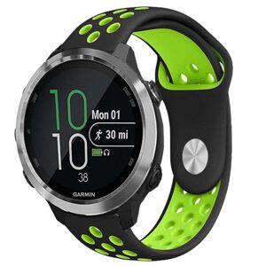 MOBILCOVERS.DK Smartwatch Hullet Silikone Rem (20mm) - Sort / Grøn