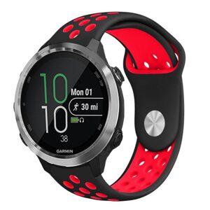 MOBILCOVERS.DK Smartwatch Hullet Silikone Rem (20mm) - Sort / Rød