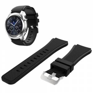 MOBILCOVERS.DK Samsung Classic Silicone Watchband (22mm) - Sort