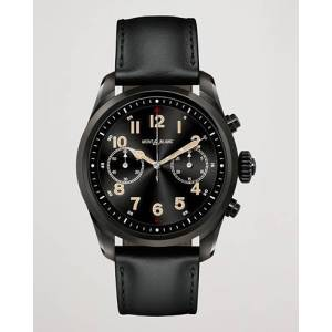 Montblanc Summit2 42mm Smartwatch Steel Black DLC / Black Calf men One size Sort