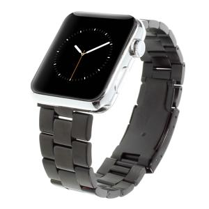 INCOVER Apple Watch (42-44mm) Klassisk Metall Stropp - Svart