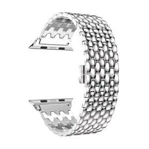 INCOVER Apple Watch 42-44mm Sølv Stainless Steel Stropp