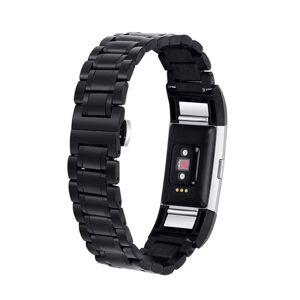 24hshop Armbånd Lenke Fitbit Charge 2 Svart