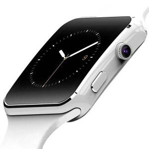 24hshop Smartwatch med Kamera Touch Screen Bluetooth iPhone / Android - Hvit