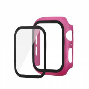 INCOVER Apple Watch Se/6/5/4 (44mm) Panserglass + Deksel - Pink