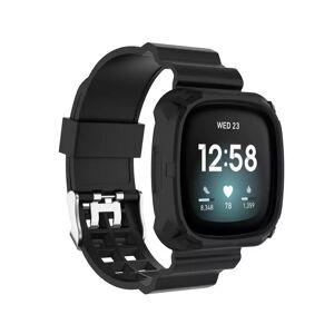 INCOVER Fitbit Versa 3 Silikon Reim - Buckle - Svart