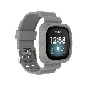 INCOVER Fitbit Versa 3 Silikon Reim - Buckle - Grå
