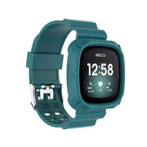 INCOVER Fitbit Versa 3 Silikon Reim - Buckle - Grønn