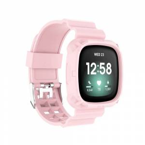INCOVER Fitbit Versa 3 Silikon Reim - Buckle - Rosa
