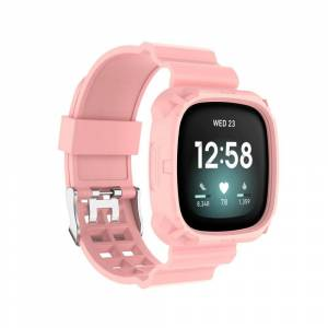INCOVER Fitbit Versa 3 Silikon Reim - Buckle - Pink