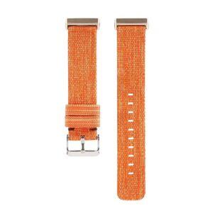 INCOVER Fitbit Versa 3 Nylonreim - Oransje