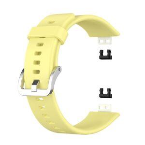 INCOVER Huawei Watch Fit Rem Af Silikone - Buckle - Gul