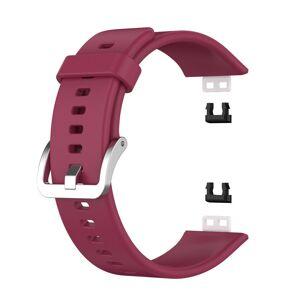 INCOVER Huawei Watch Fit Silikon Reim - Buckle - Mørke Rød