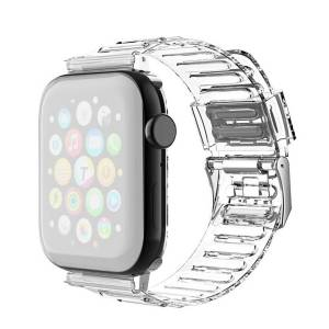 INCOVER Apple Watch (42-44mm) Fleksibel Reim - Gjennomsiktig