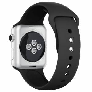 INCOVER Apple Watch 42-44mm Silikonstropp - Svart